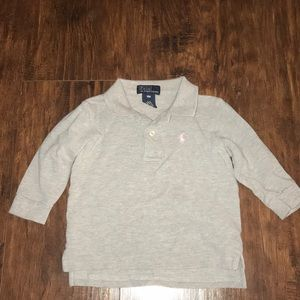 RALPH LAUREN LONG SLEEVE POLO, 18 MONTHS